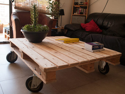 Easy pallet up-cycling: A DIY pallet coffee table