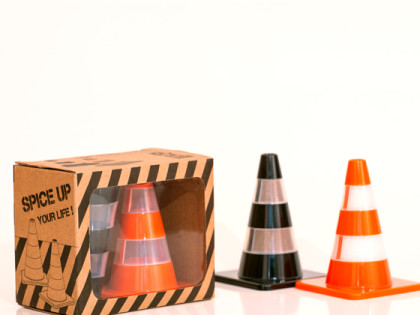 The S&P Traffic Cones, new packaging and lower prices